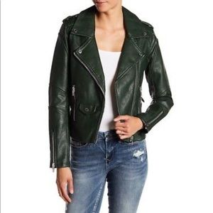 BlankNYC Green Motorcycle Leather Jacket